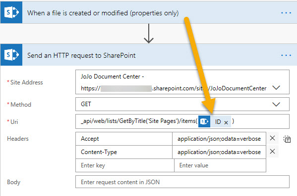 Send HTTP request to SharePoint