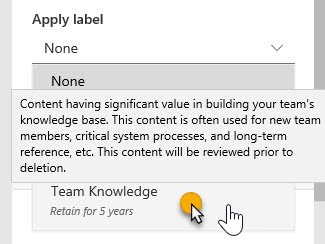 Team Knowledge Label