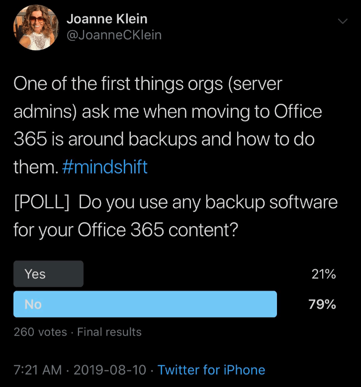 Backup Twitter poll