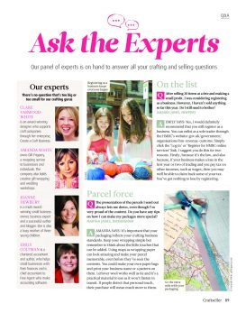 craftseller magazine ask the experts
