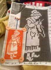 Dutch knitter bookmark completed