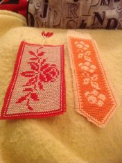 finished floral bookmarks April 2015