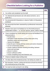 Checklist before Looking for a Publisher