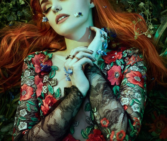 Sleeping Beauty In The Garden Of Eden Fantasy Floral Photo Shoot By Bella Kotak With The