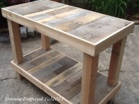 Pallet Project: Kitchen Island / Work Table  Joanne Inspired