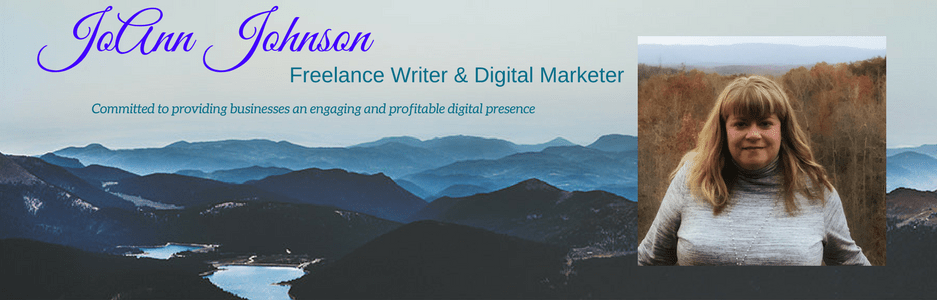 JoAnn Johnson Freelance Writer Digital Marketer