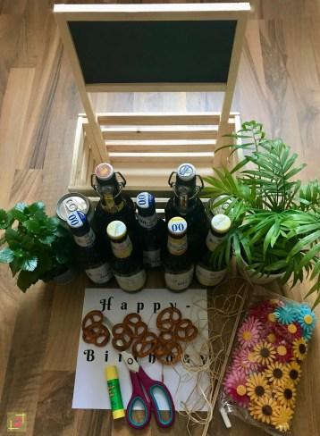 DIY Biergarten Materialien - einfache DIY Männergeschenke