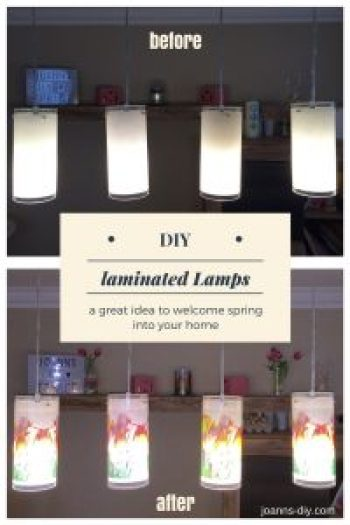 laminated lamps as spring decoration