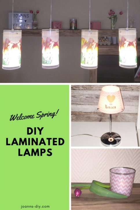 springlike diy laminated lampshades