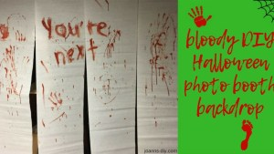 bloody DIY Halloween photo booth backdrop