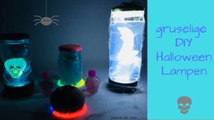 gruselige DIY Halloween lampe