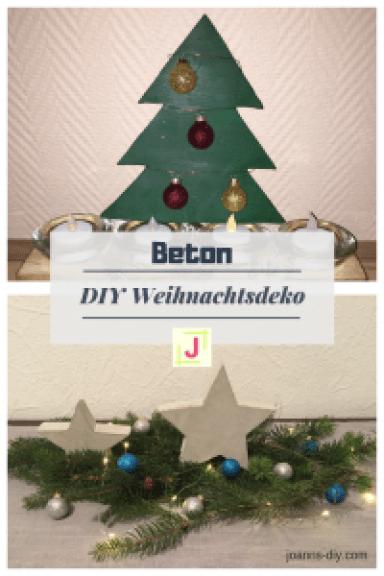 DIY Weihnachtsdeko aus Beton