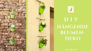DIY hängende Blumendeko