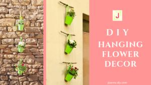 DIY hanging flower decor