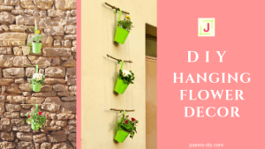 DIY hanging flower decor