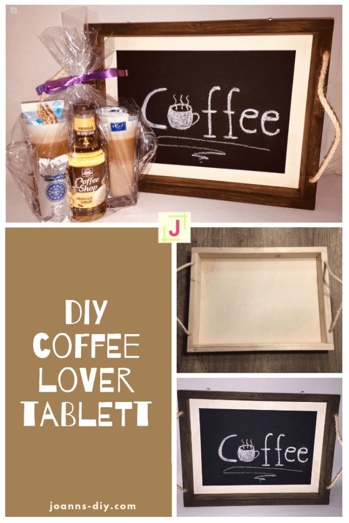 DIY Coffee Lover Tablett