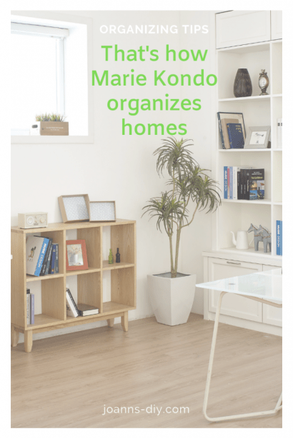 That's how marie kondo organizes homes