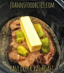 butter sitting on crock pot roast