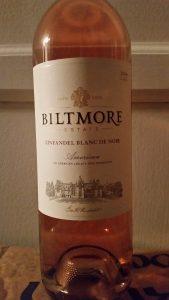 Bottle of Biltmore Zinfandel Blanc De Noir