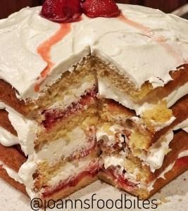 Summer Strawberry Cake