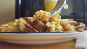 Breakfast Brunch scramble with eggs and kielbasa