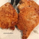 Plated Crispy Pan Fried Pork Chops