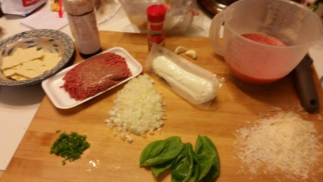 Ingredients for One Skillet Lasagna
