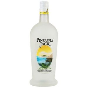 bottle of pineapple jack rum