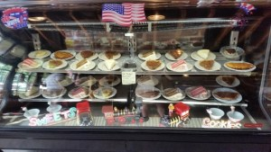 Whistle Stop Cafe dessert case