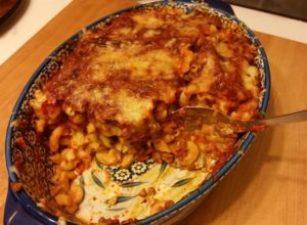 Final presentation of Macaroni baked ziti