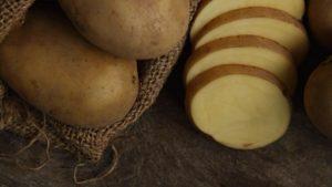 Sliced potatoes