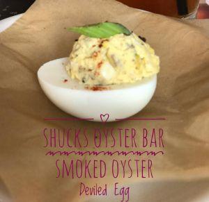 Shucks Oyster Bar Smoked Oyster Deviled Egg