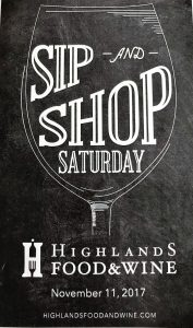 Sip and Shop Highlands, North Carolina Food and Wine Festival