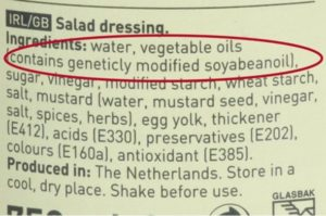 Salad dressing label from The Netherlands.