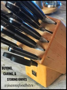 Caring buying storing knives