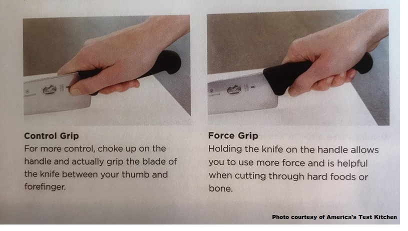 Test a knife grip before buying