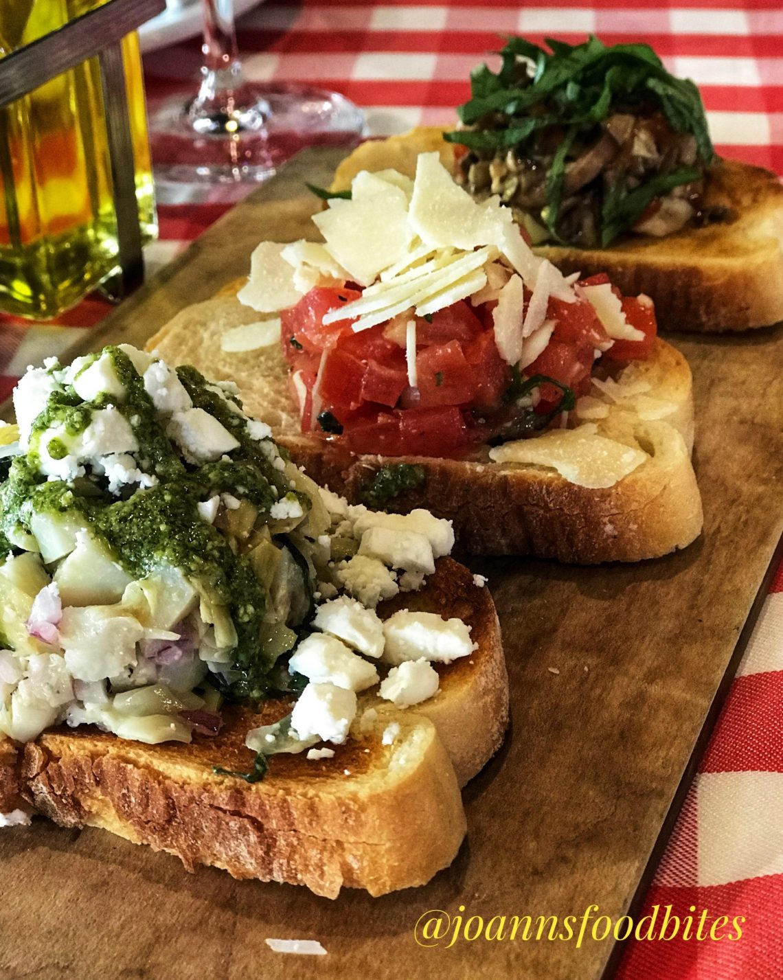 Grimaldi's Extra Large Bruchetta is a meal itself