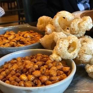 Husk Restaurants' peanuts and crispy pig skins