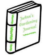 generic white book cover JoAnn's Gardening Journal