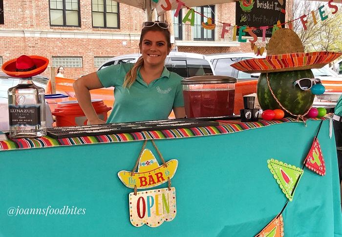 Rachel for Taco La Barra making cocktails