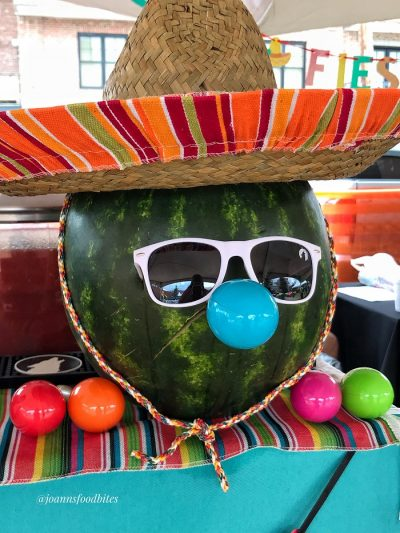 Watermelon mascot for Rachel's watermelon cocktail