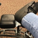 broken foot on medical scooter in the airport