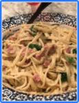 ham asparagus pasta dish