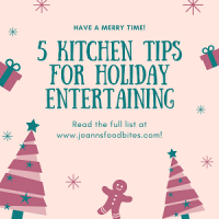 promo for 5 kitchen tips for holiday entertaining