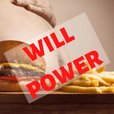 will power will hamburger and fries