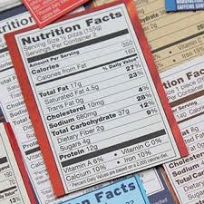 food label example