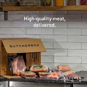 ButcherBox meat delivery opened box