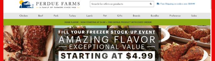 Perdue freezer stock up event
