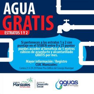 agua gratis sisben