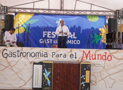 El director Nacional de Formación SENA, Farid Figueroa, acompañó la 9 versión del Festival Gastronómico SENA.